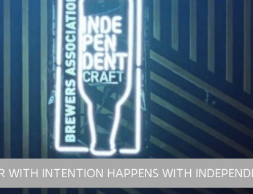 """Beer with intention"" happens with independence."